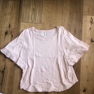 Madewell flutter sleeve top